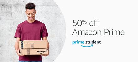 50% off Amazon Prime Student