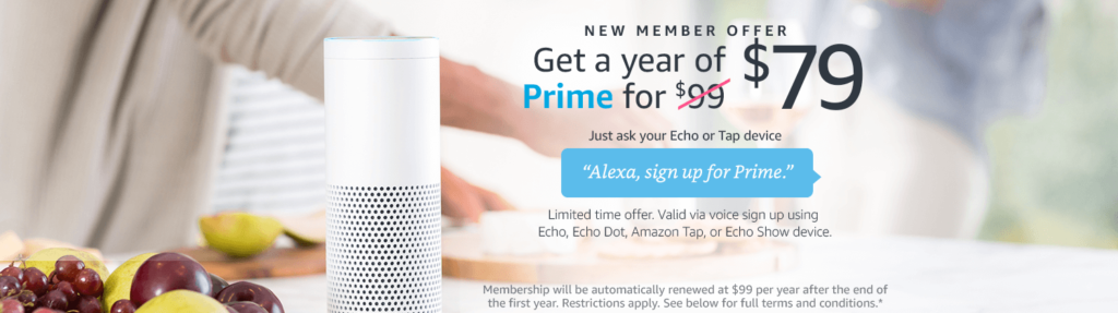 Extra $20 off a year of Amazon Prime