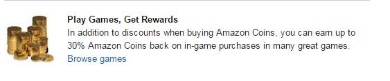 30% off Amazon Coins