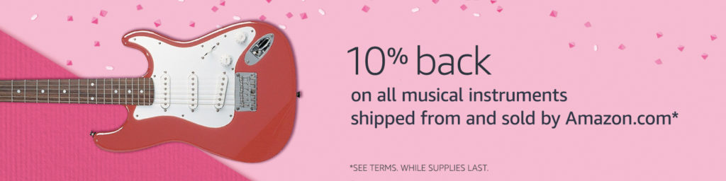 Summer 2017 bonus extra 10% on all musical instrument