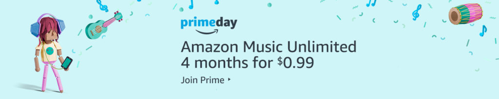 $0.99 on subscription of 4 months Amazon Music Unlimited