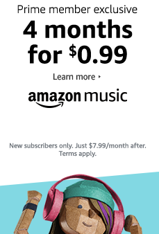 Prime Day promo $0.99 on subscription of 4 months Amazon Music Unlimited