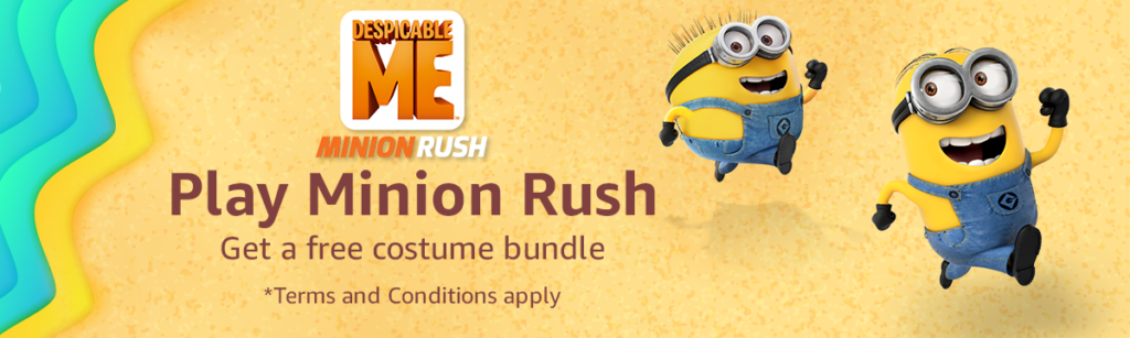 Summer promo on Minion Rush with Amazon Coins