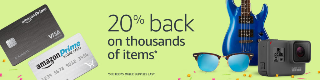 20% back items with Amazon Prime Store Card