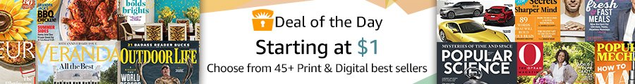 Flash promo on subscriptions to top print & digital magazines by Amazon