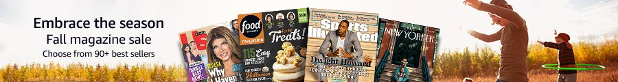 promo on subscriptions to top print & digital magazines