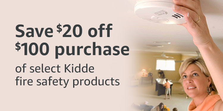 $20 off $100 Kidde fire safety products