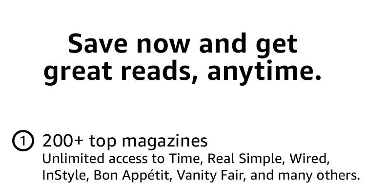 Flash promo on subscriptions to top print & digital magazines Amazon ...