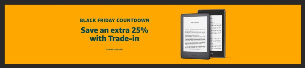 Black Friday trade-in promo for Kindle Paperwhite