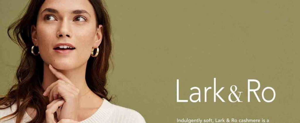 30% off holiday promo for Lark & Ro cashmere by Amazon
