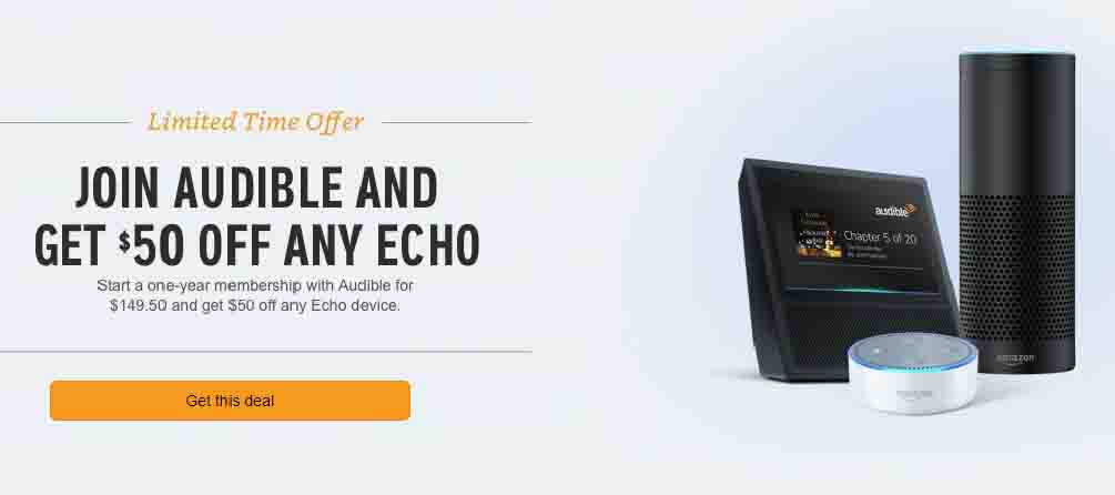 $50 off promo for any Echo device