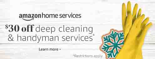 Extra $30 off Amazon Home Service for deep cleaning & handyman services