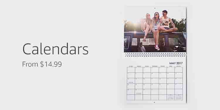 promo code '2FREE' for calendars