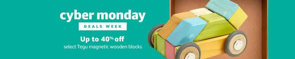 Extra 40% off Cyber Monday promo for Tegu magnetic wooden blocks