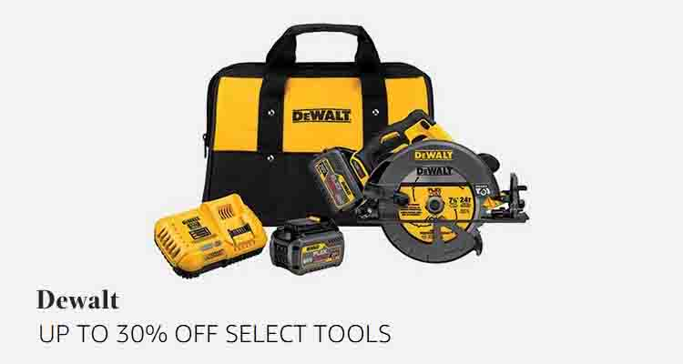 30% off DEWALT products