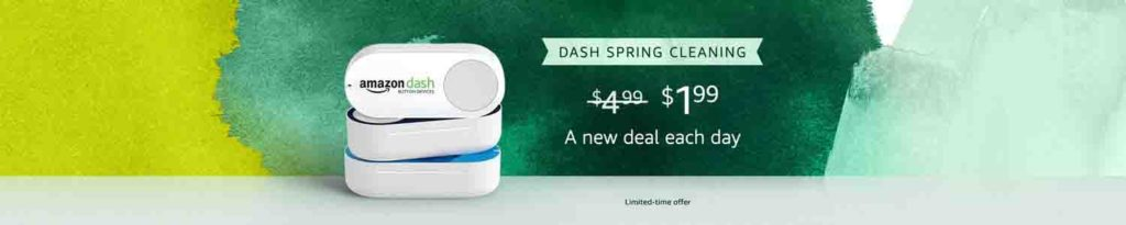 Amazon Dash Button spring deal each day