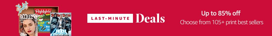 up to 85% off the best print magazines