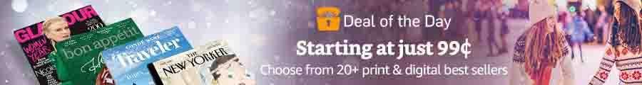 Amazon flash promo on subscriptions to top print & digital magazines