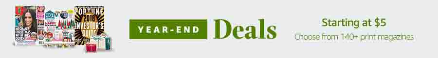 Year-end deal on print & digital magazines
