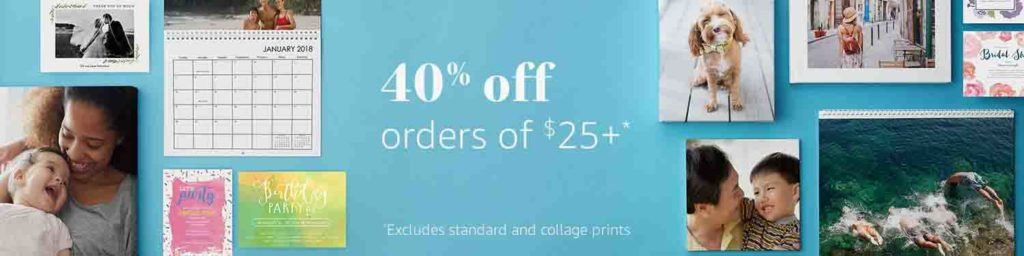 Promo code 'CHEERS40' offered to get extra 40% off any of your Amazon Prints order