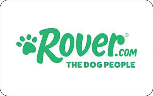 Promo code 'ROVER10' for $10 off $50Rover.com Gift Cards