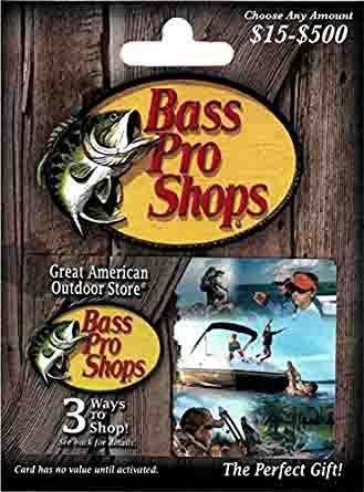 Bass Pro Shops gift card promo code 'PRO15'