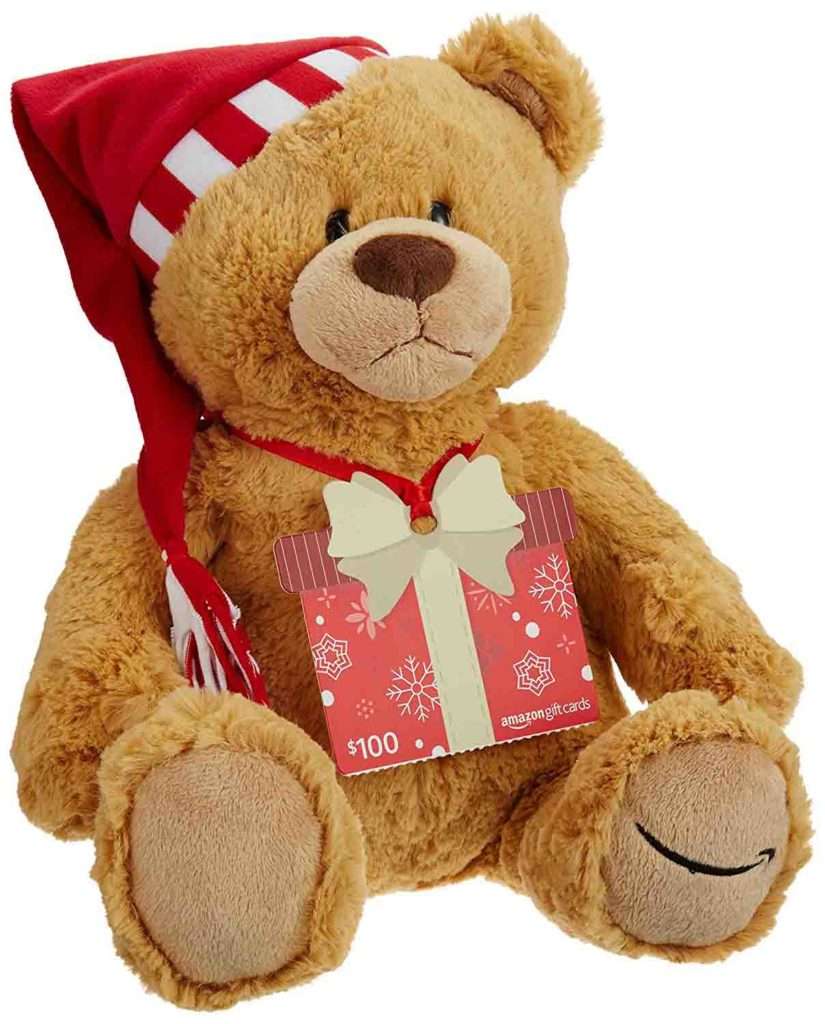 Free Teddy Bear - Limited Edition on purchase of $100 or more Amazon gift cards