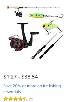 Ice Fishing Promo 2018 at Amazon.com