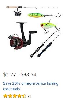 Ice Fishing Promo 2018 at Amazon.com