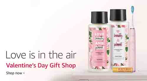 Beauty gifts promo for Valentine's Day by Amazon
