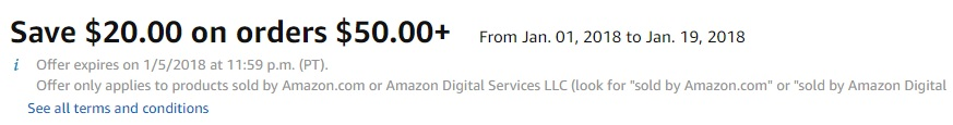 New Year New You $20 off $50 promo for select fitness products by Amazon