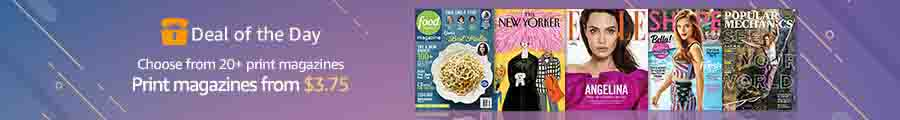 Amazonbest-selling print magazines deals from $3.75