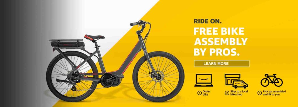 Free professional bike assembly by Amazon Home Service