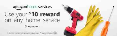 Get $10 Amazon rewards for Amazon Home Service