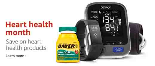 Heart health products monthly promo by Amazon