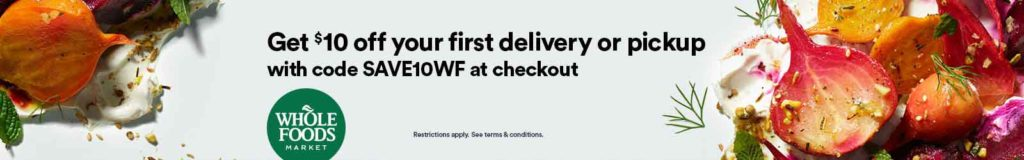 Whole Foods Market 10% off promo code 'SAVE10WF'