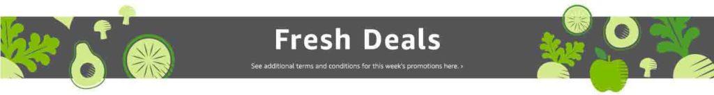 Promo code 'FRESH25' for $25 off $100 purchase on Amazon Fresh