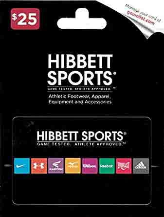 promo code 'HIBBET' for $10 off $50 Hibbett Sports Gift Card