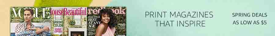 spring top print & digital magazines deals