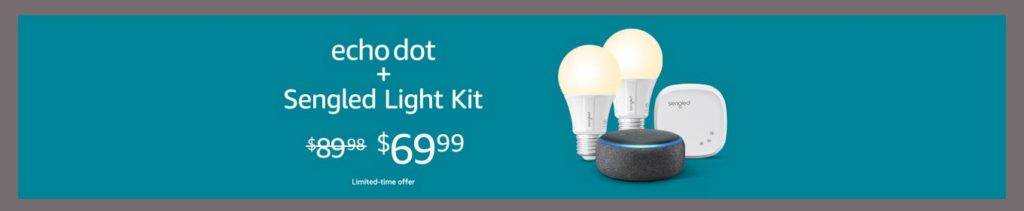 15% off promo event for Sengled smart light bulbs Amazon Posted March 11, 2019 admin Promo for Sengled smart light bulbs bundled with Amazon Echo Dot