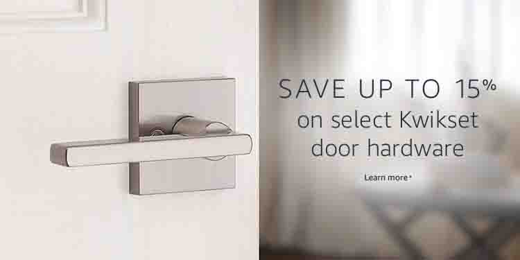 Extra 15% off spring promo for Kwikset door hardware Amazon