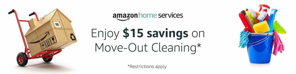 Extra $15 off promo for move -out cleaning Home Service Amazon
