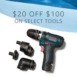 Bosch tools $20 off $100 Father's Day 2018 promo Amazon