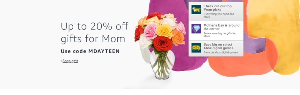 Mom's Day promo code 'MDAYTEEN'