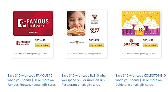 promo codes at Amazon Gift Cards Brand, offering