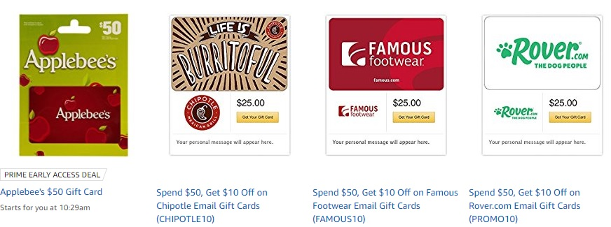 promo codes at Amazon Gift Cards Brand