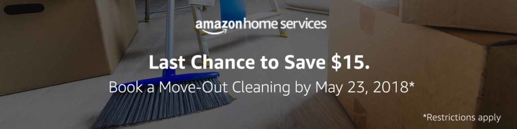 Extra $15 off May promo for move -out cleaning Home Service Amazon