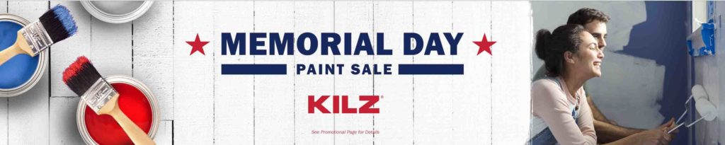 Memorial Day 2018 promo for Kilz products Amazon