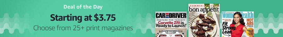Flash promo on subscriptions to top print & digital magazines