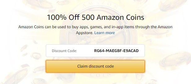 free Amazon Coins and the promo code